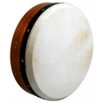 "Glenluce 14"" Tuneable Bodhran in Dark Natural Stain with Beater (GR16014)"