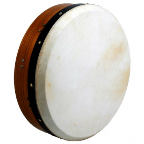 "Glenluce 14"" Tuneable Bodhran in Dark Natural Stain with Beater (16014)"