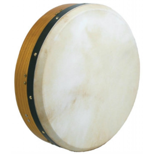 """Glenluce 16"""" Kilkee Tuneable Bodhran in Natural Stain with Beater (16016)"""