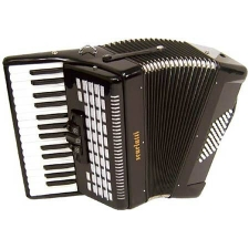 Scarlatti 48 Bass Accordion in Black Pearl Finish with Case & Straps (GR41003K)