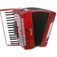 Scarlatti 48 Bass Accordion 3V in Red Pearl Finish With Case & Straps (GR41004R)