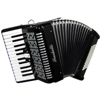 Scarlatti 72 Bass Accordion In Black (GR41006K)