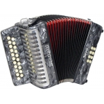 Scarlatti B/C Rosso 2-Row Chromatic Melodeon inc Czech Durall Reeds & Bag GR42006