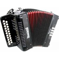 Scarlatti Nero D/G Melodeon Czech Durall Reed in Black with Gig Bag (GR42005)