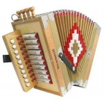 Scarlatti Cajun One Row C Melodeon in Natural Wood Finish with Case (GR42008)