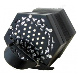 Stagi W15MS Anglo C/G Concertina in Black With 30 Keys (GR47007)