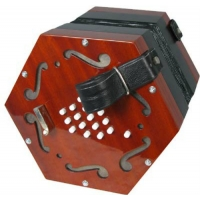Scarlatti SCE30 English System Concertina, 30 Key, Black (GR48011) inc bag, Bent Button