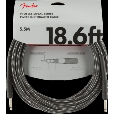 Fender Professional Series Instrument Cable, 18.6FT (5.5M) Grey Tweed