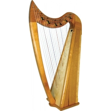 Stoney End Eve Gothic Harp With 22 Strings, 6 Levers & Padded Bag (GX60042)