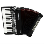 Hohner Bravo III 72 Piano Accordion in Black, Newer Facelift Version