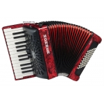 Hohner Bravo II 48 Bass Accordion, Red