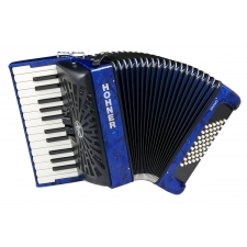 Hohner Bravo II 48 Bass Accordion, Dark Blue
