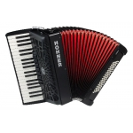 Hohner Bravo III 80 Bass Accordion, Black