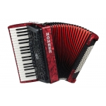Hohner Bravo III 96 Bass Accordion, Red