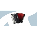 Hohner Bravo III 96 Bass Accordion, Black, BLACK LINE