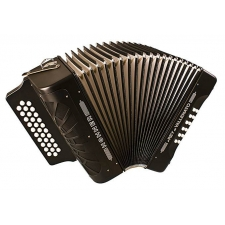 Hohner El Ray De Vallenato Diatonic Button Accordion A/D/G, Black