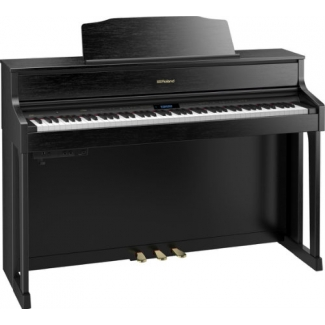 Roland HP605 Digital Piano with Stool in Contemporary Black