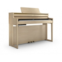Roland HP704 LA Digital Piano in Light Oak with matching stool