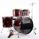 Impact 5 Piece Drum Kit in Wine Red or Black with Cymbals, Stands & Stool
