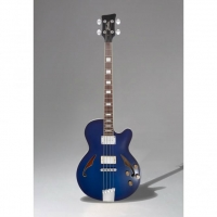 Italia Torino 4-String Bass, Trans Blue, Secondhand