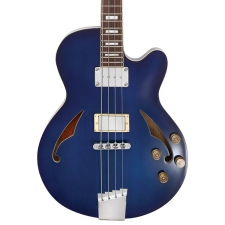 Italia Torino Semi-hollow 4-String Bass in Transparent Blue inc Case, Secondhand
