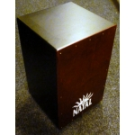 Natal Birch Cajon Snare Wire in Black With Red Front Plate