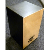 Natal Birch Cajon Snare Wire in Black With Natural Front Plate