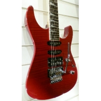 Jackson Dinky DK2 Electric Guitar in Flame Maple Red, Secondhand