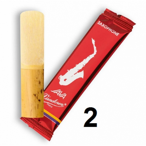 Vandoren Java Filed - Red Cut Baritone Saxophone Reeds Set of 5 - Strength 2
