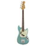 Fender Justin Meldal-Johnsen Mustang Bass, Faded Daphne Blue