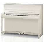 Kawai K200 SL Upright Piano, Polished Snow White, Silver Fittings