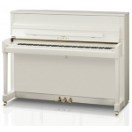 Kawai K200 Upright Piano, Polished Snow White