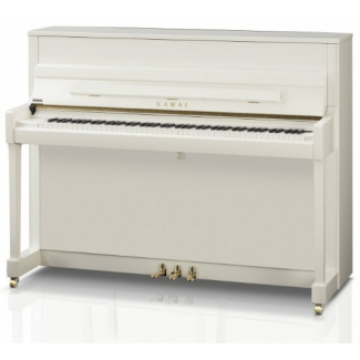 Kawai K200 Upright Piano in Polished Snow White