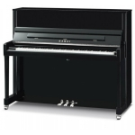 Kawai K300 SL Upright Piano, Polished Ebony, Silver Fittings