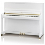 Kawai K300 Upright Piano in Snow White Polished