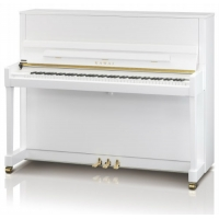 Kawai K300 Upright Piano, Snow White Polished
