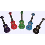 Kahana Soprano Ukuleles, Inc Bag, in Red