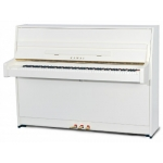 Kawai K15E Upright Piano, Snow White Polished