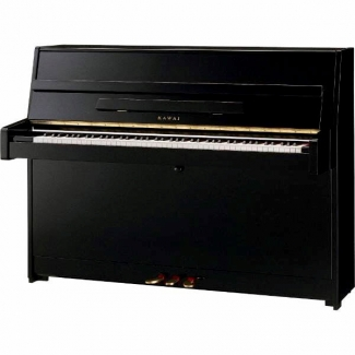 Kawai K15E Upright Piano In Polished Ebony