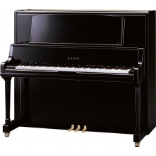 Kawai K800AS Upright Piano In Polished Ebony With Grand-Style Music Rack