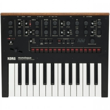 Korg Monologue - 25 Key Monophonic Analogue Synthesizer, Black
