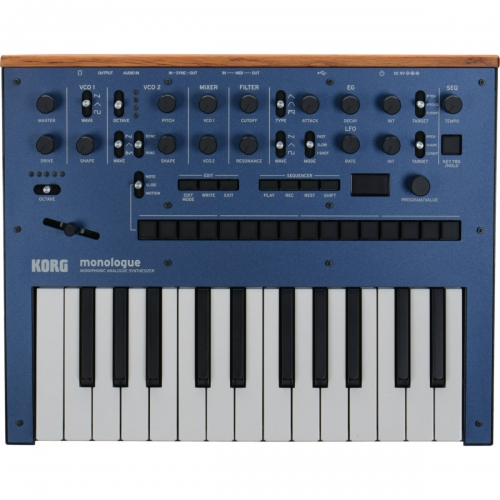 Korg Monologue - 25 Key Monophonic Analogue Synthesizer, Blue