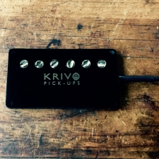 Krivo Universal Mini Humbucker Pickup (Black) - For Most Stringed Instrument