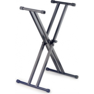 X Style Double Braced Keyboard Stand