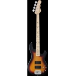 G & L Tribute Series M2000 4 String Bass, 3-Tone Sunburst