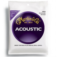 3 Sets of Martin M535 Phosphor Bronze Acoustic Guitar Strings 11-52