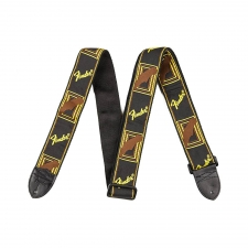 Fender Monogrammed Strap White/Brown/Yellow