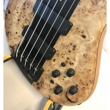 Marleaux MBass 5-String Bass with Burl Top & Alder Body Inc Deluxe Gig Bag