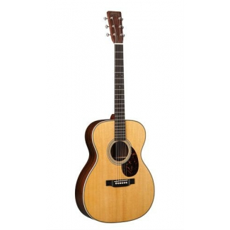 Martin OM28 American Acoustic Guitar In Natural & Hard Case