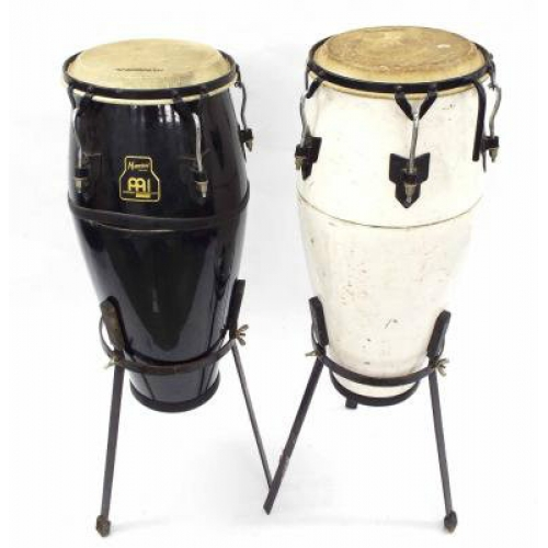 Meinl Marathon Pair Of Congas with Stands in Black